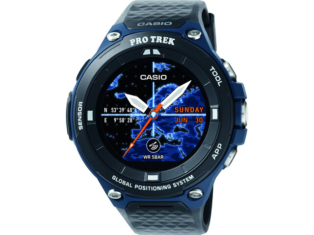 CASIO PRO TREK SMART WSD-F20A-BUAAE Smartwatch Herrer, black/blue/grey
